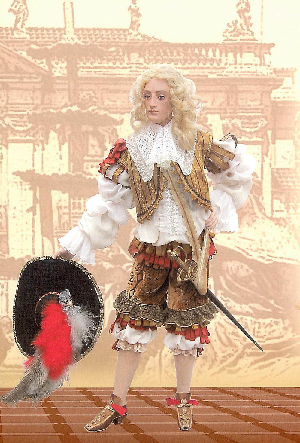 """""""Галантный кавалер"""" 73,7 см. Керамика, фарфор, текстиль."""